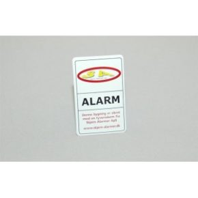 Alarm klistermærke
